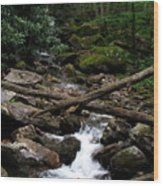 Blue Ridge Brook Wood Print