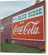 Blue Ridge Coke Wood Print