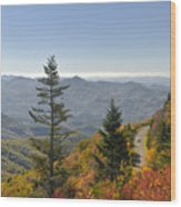 Blue Ridge Drive Wood Print