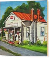 Blue Ridge Grocery Wood Print