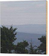 Blue Ridge Horizon Wood Print