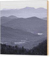 Blue Ridge Impression Wood Print