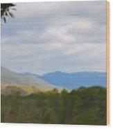 Blue Ridge Mountain Wood Print