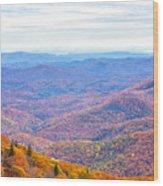 Blue Ridge Mountains 3 Wood Print