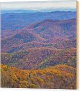 Blue Ridge Mountains 4 Wood Print