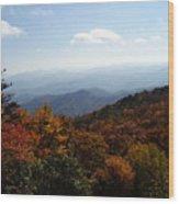 Blue Ridge Mountains Wood Print