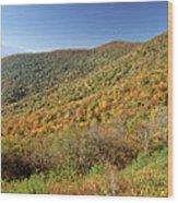 Blue Ridge Mountains In Autumn Wood Print