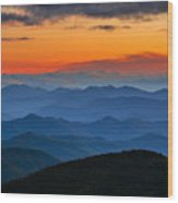 Blue Ridge Mountains. Wood Print