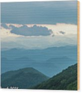 Blue Ridge Mountains View From Craggy Garden Wood Print