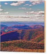 Blue Ridge Of Virginia Wood Print