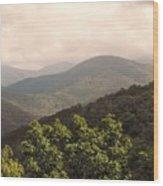 Blue Ridge Overlook Wood Print
