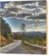 Blue Ridge Parkway, Buena Vista Virginia Wood Print