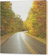 Blue Ridge Parkway In Fall Wood Print by Utopia Concepts