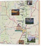 Blue Ridge Parkway In North Carolina Wood Print