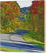 Blue Ridge Parkway Interpretation Wood Print