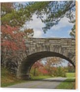 Blue Ridge Parkway Stone Arch Bridge Wood Print
