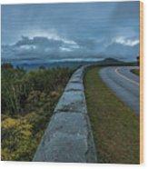 Blue Ridge Parkway Twisty Wood Print