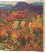 Blue Ridge Pastoral Wood Print