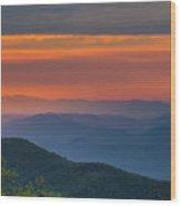 Blue Ridge Sunrise At Wintergreen I Wood Print