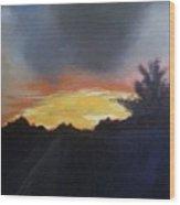 Blue Ridge Sunrise Wood Print