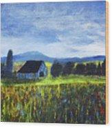 Blue Ridge Valley Wood Print