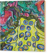 Blue Ringed Octopus Wood Print