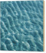 Blue Ripples Wood Print