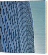 Blue Rise Wood Print