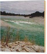 Blue River One Wood Print