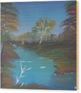Blue River Two Wood Print