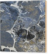Blue Rock One Wood Print