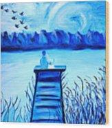 Blue Romance Wood Print
