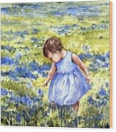Blue Wood Print by Sam Sidders