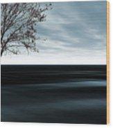 Blue Sand Wood Print