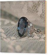 Blue Sapphire Wood Print