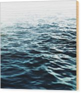 Blue Sea Wood Print