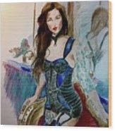 Blue Secret Wood Print