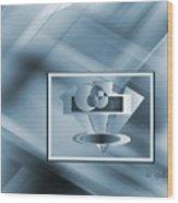 Blue Series #2 Wood Print