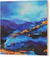 Blue Shades Wood Print