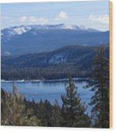 Blue Sierra Lake Wood Print