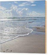Blue Skies South Padre Island Texas Wood Print