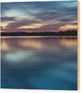 Blue Skies Of Reflection Wood Print