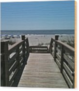 Blue Sky And Beautiful Beach Wood Print