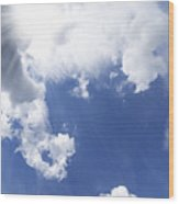 Blue Sky And Cloud Wood Print