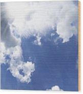 Blue Sky And Cloud Wood Print by Setsiri Silapasuwanchai