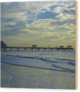 Blue Sky Clearwater Pier 60 Wood Print