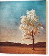Blue Sky Dreams Wood Print