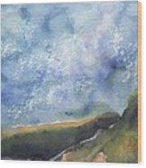 Blue Sky II Wood Print