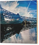 Blue Sky In Paris  Wood Print