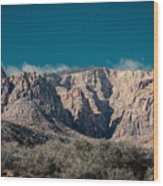 Blue Sky Over Red Rock Wood Print